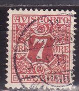 Danemark 1907 - Timbre Pour Journeaux Yv.no.3 Oblitere(d) - Port Dû (Taxe)