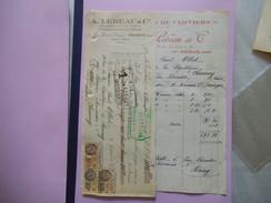 ROUBAIX  A. LEBEAU & Cie  PAINS D'EPICES  DE VERVIERS ROYAL AU MIEL 9 RUE CHANZY FACTURE ET TRAITE DU 22 NOVEMBRE 1933 - France
