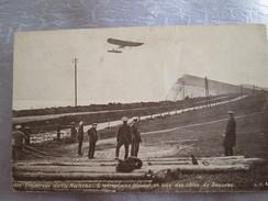 Traversee De La Manche ; L Aeroplane Bleriot En Vue Des Cotes De Douvres ; Au Dos Publicitee - Avions