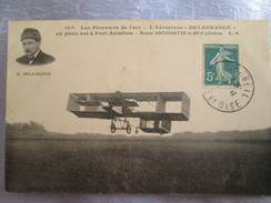Aeroplane Delagrange ;en Plein Vol A Port Aviation ; Moteur Antoinette - Avions