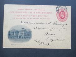 Südafrika Cape Of Good Hope/Kap Der Guten Hoffnung GA 1910 Privatganzsache.Houses Of Parliament Cape Town.In Die Schweiz - África Del Sur (...-1961)