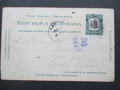 Panama / Canal Zone Ganzsache Mit Überdruck! 1911 Nach Costa Rica!! Interessante Karte!! - Panama