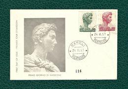 ITALIA 1957 - FDC - San Giorgio Di Donatello -  500/1.000 L. - Unificato 810-11 - F.D.C.