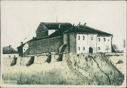 Garten Гродна ( Grodno / Gardinas / Гродна  Altes Schloss - Zeichnung 1943 - Belarus