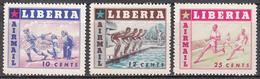 LIBERIA     SCOTT NO. C88-90    MINT HINGED    YEAR  1955 - Liberia