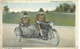 (MILITAIRES)(  SIDE  CAR   ) (U S ARMY DISPATCH RIDER ) - Regiments