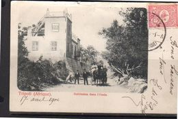 Turkish Levant Tripoli Di Barberia Hotel E.MILUL RARE CARD (t207) - Libye