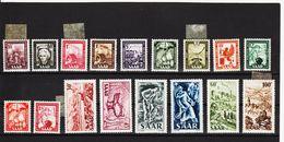 KAR330 DEUTSCHLAND SAARGEBIET 1949  MICHL 272/88  ** 5 WERTE (*) FALZ Postfrisch SIEHE ABBILDUNG - 1947-56 Allierte Besetzung