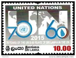 Sri Lanka - 2015 - 70 Years Of The United Nations - Mint Stamp - Sri Lanka (Ceylon) (1948-...)