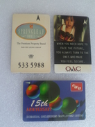 Singapore Phonecard -Set Of 3 Pcs. OAC Insurance CIEU 15 Th Anniversary Springleaf  (L81) - Telefonkarten