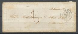1847 Enveloppe Gauffré Valentine + Lettre  Idem . Superbe X2632 - Postmark Collection (Covers)