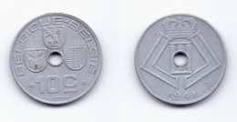 Belgium 10 Centimes 1941 BELGIQUE-BELGIE WWII Issue - 02. 10 Centimes