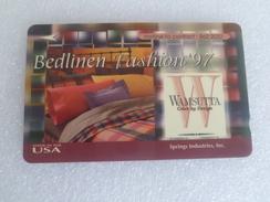 Singapore Phonecard - USA Wamsutta Bedlinen Fashion 97 (L82) - Phonecards