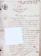 Acte De 1845, Notaire, Saint ZACHARIE, (83) VAR,  Vente D'une Terre Vigne, Oliviers, Quartier D'orgnon 4 Pages - Manuscrits