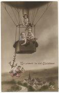 Surrealisme Montgolfiere Ballon Avec Enfants Nus Repopulation Multi Bébés - Montgolfières