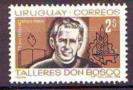 "1968 The 75th Anniversary Of The ""Don Bosco Workshops"" 1 V. Mint ** - Uruguay"