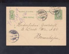 Luxemburg GSK 1906 Rodange Nach Bremerhafen - Ganzsachen