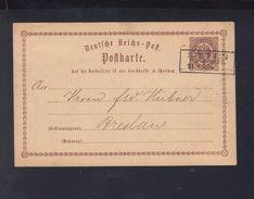 Dt. Reich GSK 1873 Stettin Nach Breslau - Covers & Documents