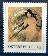 Die Vier Künste - Die Musik 1898, Alfons Mucha, Jugendstil, Art Nouveau, PM AT 2012 ** (e634) --- Free SHIPPING Within E - Austria