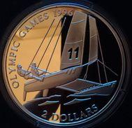 "BAHAMAS 2 DOLLARS SILVER PROOF 1995 ""OLYMPIC GAMES 1996"" (free Shipping Via Registered Air Mail) - Bahamas"