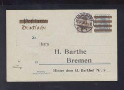Dt. Reich GSK  Vordruck Barthe Bremen 1906 Gelaufen - Deutschland