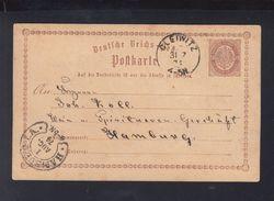 Dt. Reich GSK 1874 Gleiwitz Nach Hamburg - Covers & Documents