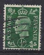 GB 1937  KG VI. 1/2d (o) SG.462. Mi.198. (perfin.CA) - Great Britain