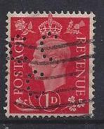 GB 1937  KG VI. 1d (o) SG.463. Mi.199. (perfin.CC C) - Great Britain
