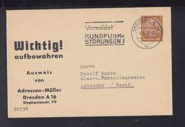 Dt. Reich Umschlag Umschlag Adressen-Müller Dresden 1936 - Deutschland