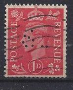 GB 1941  KG VI. 1d (o) SG.486. Mi.222. (perfin.CS) - Great Britain