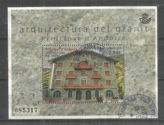 L'Architecture De Granit (Hotel Rosaleda) Bien De Interés Cultural De Andorra.B-F Oblitéré,1 ère Qualité (Haute Faciale) - Blocks & Sheetlets