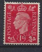 GB 1937  KG VI. 1d (*) MH  SG.463. Mi.199. (perfin.MC &M) - Great Britain