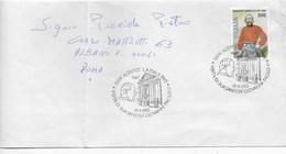 ANNULLO SPECIALE - ALBANO LAZIALE - VISITA DI SUA SANTITA' GIOVANNI PAOLO II° - 19.09.1982 - SU BUSTA VIAGGIATA - 6. 1946-.. Repubblica