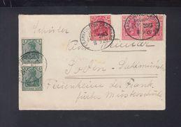 Dt. Reich Brief 1920 Bahnpost Germania 10 Pf. In 2 Farbtönen - Deutschland