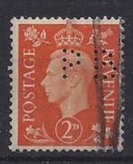 GB 1937  KG VI. 2d (o)  SG.465. Mi.201. (perfin.PB) - Great Britain