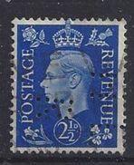 GB 1937  KG VI. 2.1/2d (o)  SG.466. Mi.202. (perfin.HL R) - Great Britain