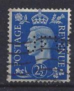 GB 1937  KG VI. 2.1/2d (o)  SG.466. Mi.202. (perfin.JFW) - Great Britain