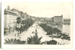 SPALATO Photo Card Old Cars Harbour C. 1950 - Croatia
