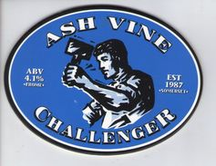 ASH VINE BREWERY (FROME, ENGLAND) - CHALLENGER (2) - PUMP CLIP FRONT (BREWERY CLOSED IN 2001) - Letreros