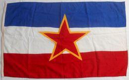 YUGOSLAVIA - Original Vintage Communist Flag * LARGER SIZE * Drapeau Flagge Bandiera Yougoslavie Jugoslawien Jugoslavia - Flags