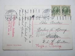 1911 , Karte Aus Dänemark Nach  OUTJO , Nachgesendet Nach  Winhuk  , Recht Selten - Colony: German South West Africa