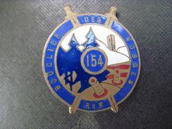154 Rgt. D'Infanterie De Forteresse LIGNE MAGINOT.PORT OFFERT - Insignes & Rubans