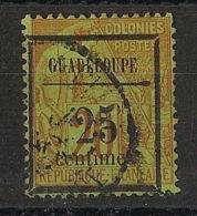 Guadeloupe - 1889 - N°Yv. 5 - 25c Sur 20c Brique  - Oblitéré / Used - Nuevos