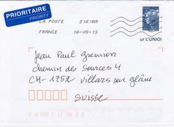 Brief In Die Schweiz (br1216) - France