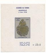 DRAIM - 2 Blocs Journée Du Timbre 1948 Marseille - Dentelé Et Non Dentelé - Erinnophilie
