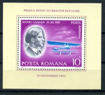 Romania, 1978, Pioneers Of Aviation, Airplane, MNH, Michel Block 156 - Rumania