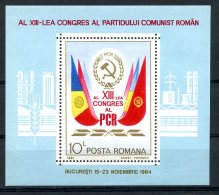 Romania, 1984, Communist Party, MNH, Michel Block 211 - Rumania