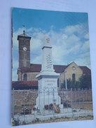 CPSM 21 - CHAUX MONUMENT AUX MORTS ET L'EGLISE - Nuits Saint Georges