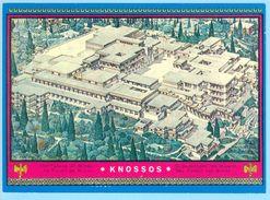 Greece, Knossos Cnossos Cnosos Crete Kreta, 7 Postcards - Greece