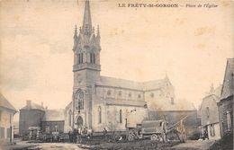 08-LE FRETY-SAINT-GORGON- PLACE DE L'EGLISE - France